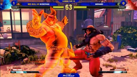 街霸5:猪皇王者归来,败者组迎战世界上唯一能用沙加特比赛的男人