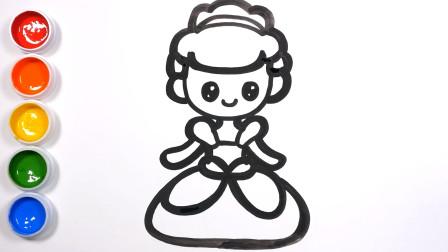 简笔画童话公主|教你画灰姑娘、南瓜马车和水晶鞋|儿童绘画