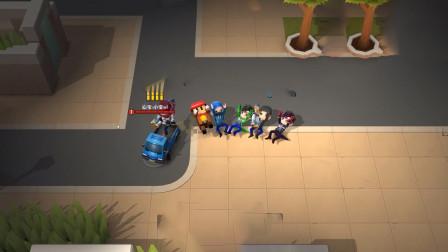 逃跑吧少年,追捕者一次性抓着五个逃跑者关进了禁闭室