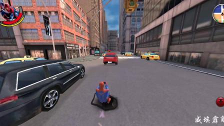 [威埃霹解说]超凡蜘蛛侠:第三集,蜘蛛侠追击坏人,还玩起了都市冲浪