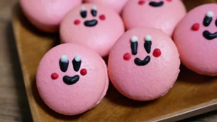不擅长做甜点也没关系!超简单的粉色马卡龙!