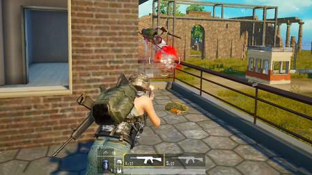 狂战士杰西:阳台正面钢枪,一把S12K狂喷,敌人吓得跳了楼
