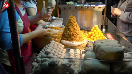 台湾街头美食系列,花生卷冰激凌和大肠包小肠