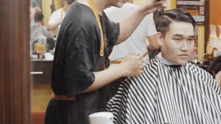 男士侧背发型很帅,尤其是脸大的男生,立体式显脸小很有型