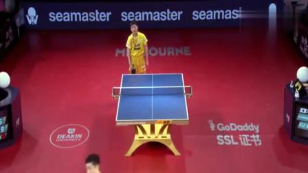 乒乓球男单半决赛,日本神童张本智和挑战艺术家许昕