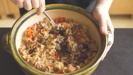 用电饭煲做一份超多汁的手抓羊肉饭,油润的米饭大块的羊肉,真诱人!