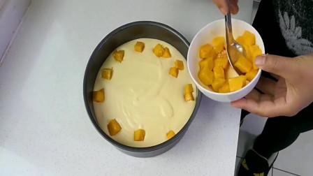 芒果慕斯蛋糕的做法,不用烤箱,一学就会,学会可以开店了