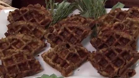 你爱吃华夫饼吗?教你制作出美味的华夫饼!简直太有食欲了!