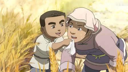 小伙主动帮父母做农活,还给妈妈擦汗,真是个孝顺的好孩子