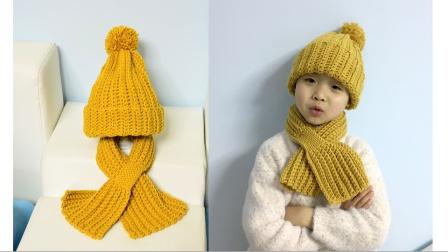 素姐手作条纹绒球帽子
