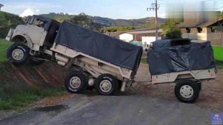 奔驰越野卡车,采用结构独特的H型驱动桥