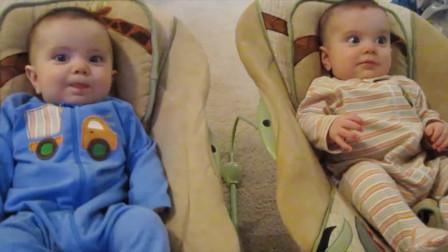可爱双胞胎宝宝的最佳视频宝宝视频