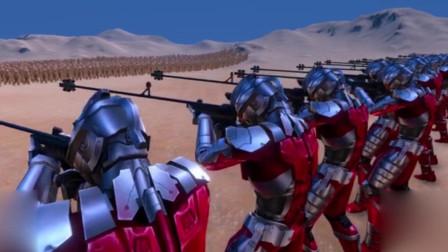 史诗战争模拟器:钢铁奥特曼出场,20人能否击败1000头哥莫拉