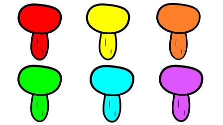 如何简画蘑菇 然后涂上彩色