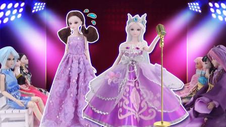 叶罗丽故事 学校六一晚会,冰公主唱歌超好听,文茜却唱跑调