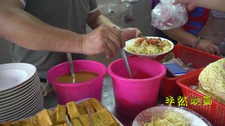 贵州小伙去吃手抓面,加五香和香肠8块钱,这是漳州的特色美食