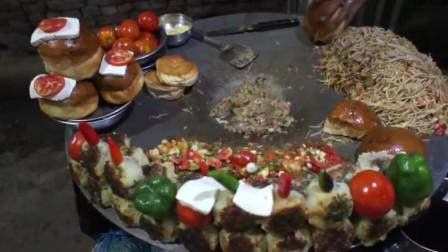 万物皆可糊糊,印度街头黑暗料理:铁板汉堡,了解一下?