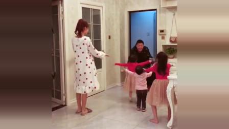 爸爸一回家,还以为要先抱一下小情人,下一秒,老婆最大!