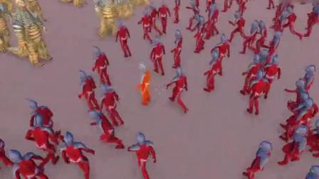 史诗战争模拟器:4300个赛文奥特曼挑战3600个怪兽雷德王,结局我猜错了!