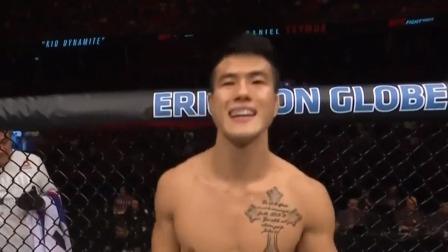 UFC格斗之夜153期-拉吉克前腿高扫马努瓦一击制胜