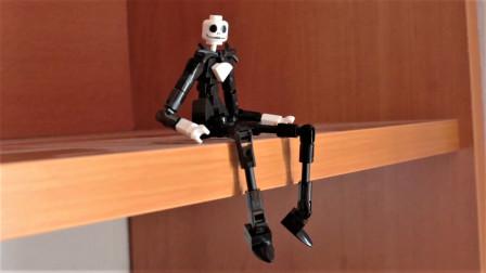 乐高MOC拼装《圣诞夜惊魂》主角骷髅杰克·斯凯林顿人偶积木