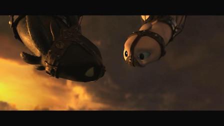 驯龙高手3:众人与葛林魔猎龙人激战,解救被俘无牙仔和光煞