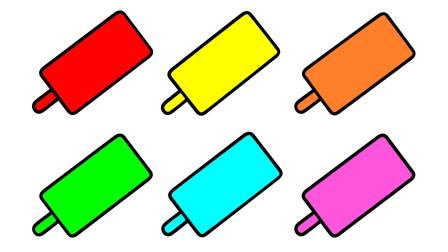 如何简画冰棍 然后涂上彩色