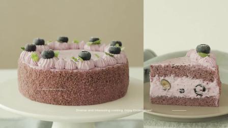 奶油满满的蓝莓蛋糕!BlueberrycakeRecipe
