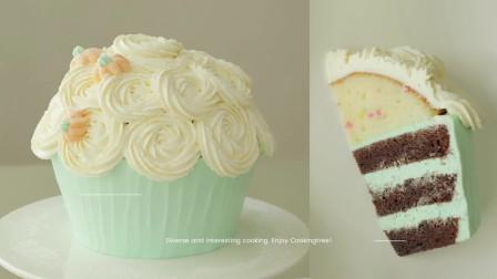 巧克力香草味花朵磅蛋糕!