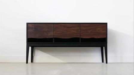 【木工家具DIY】时尚简约镂空设计实木电视柜制作全过程