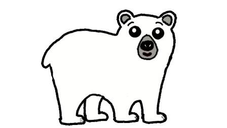 简单易学的北极熊简笔画 - 一步一步教你画