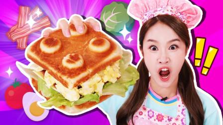 乐高积木三明治小制作 料理厨房游戏