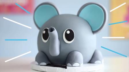 可爱的小象蛋糕