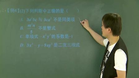 初中数学:多项式的相关概念以及知识点的讲解数理,总结很全面