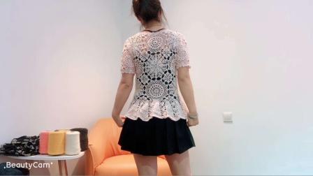 第297集关于青春之手工编织蕾丝套头衫2夏天套头蕾丝小衫短袖衫