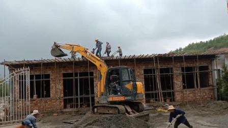 家里有挖机,干活就是任性
