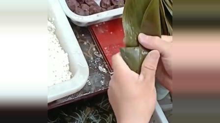 原来四角粽子还可以这么包,这手法,真是简单粗暴!