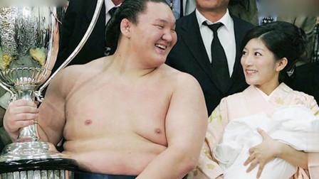 400斤女相撲嫁給96斤男老公無業靠妻子養活真正白富美