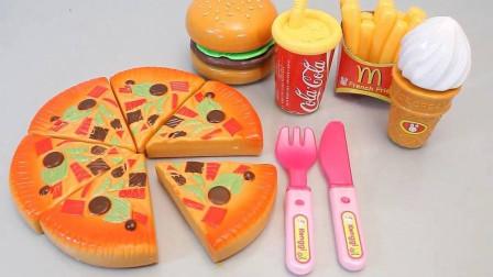 《傻喵食玩》:DIY拆箱食玩(280)!制作超级汉堡-比萨!