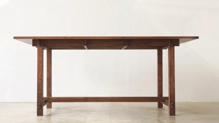 【木工家具DIY】黑胡桃实木餐桌制作过程