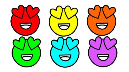 如何简画喜欢表情包 然后涂上彩色