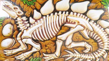 恐龙化石拼图游戏 恐龙汽车救援挖掘恐龙蛋