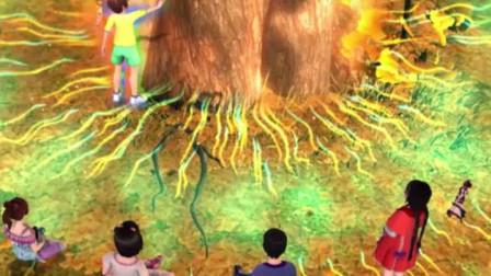 伙伴们与银杏树王的根茎连接,进入了植物状态,只能靠别人的守护