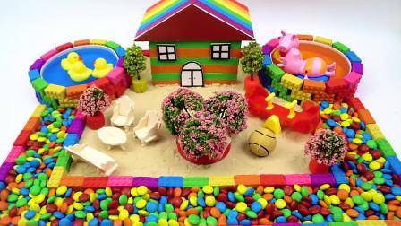 萝卜玩具宝宝 太空沙制作制作超梦幻的糖果屋