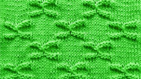 让人拥有少女心的一款棒针花样,蝴蝶结针编织教程,重返十八岁!