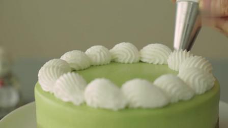 烤绿茶【抹茶】芝士蛋糕-抹茶控最爱,茶香浓厚,外表清新淡雅,抹茶系小清新的下午茶