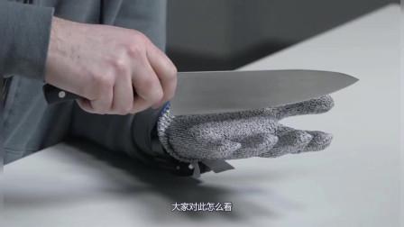 世界上最强防切割手套遇上水切割机的一瞬间结果会怎样