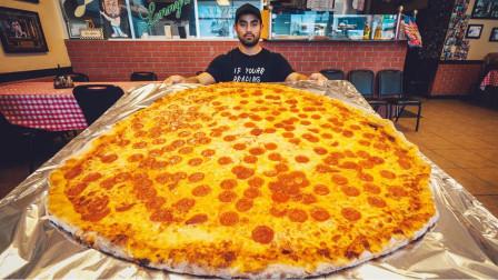 生活漫话 36寸的巨型披萨,看起来气势十足