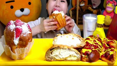 """""""烤面包""""大集合!草莓奶油面包+椰子焦糖面包+热狗面包,真诱人"""