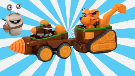 超级飞侠 金刚的钻头车过家家玩具